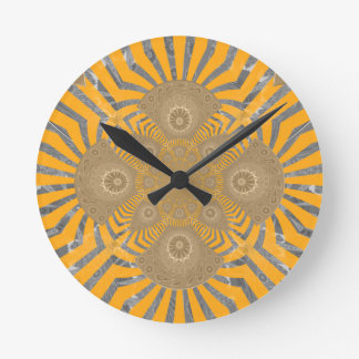 Lovely Edgy  amazing symmetrical pattern design Round Clock