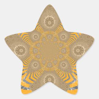 Lovely Edgy  amazing symmetrical pattern design Star Sticker