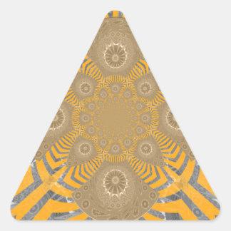 Lovely Edgy  amazing symmetrical pattern design Triangle Sticker