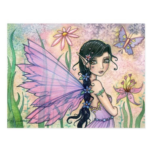 Lovely Fairy Butterfly Postcard by Molly Harrison
