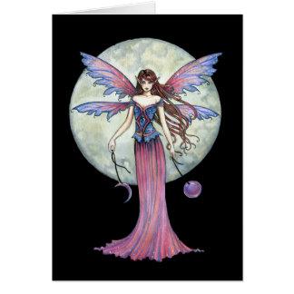 Lovely Fairy Greeting Card, Celestial Full Moon Card