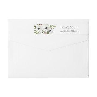 Lovely Floral Invitation Return Address Label Wraparound Return Address Label