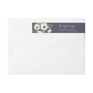 Lovely Floral Purple Return Address Label Wraparound Return Address Label