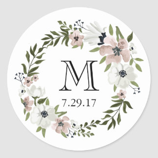 Lovely Floral Round Sticker