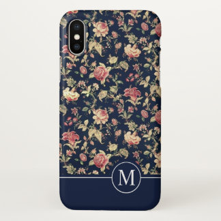 Lovely Floral Shower Monogram | iPhone X Case