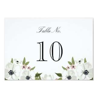 Lovely Floral Table Number Card