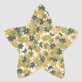 Lovely Flowers Star Sticker