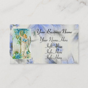 Roman catholic business cards zazzle au lovely forget me not angel business card colourmoves