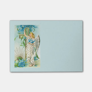 Lovely Forget Me Not Angel Post-it Notes
