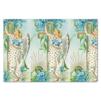 Lovely Forget Me Not Angel Tissue Paper