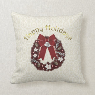 Lovely Formal Christmas Holiday Wreath - Personali Cushion