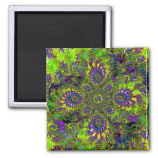 """Lovely Garden In The Sea"" ~ Abstract Art Print Magnet"