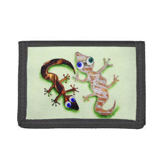 Lovely Gecko Trifold Wallet