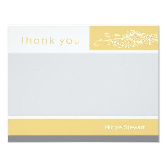 Lovely Girl Custom Thank You Note Card