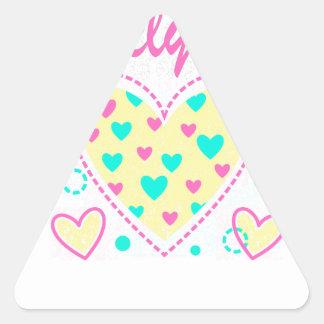 lovely girl heart cool design triangle sticker