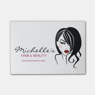 Lovely girl with wavy hair Makeup Icon Post-it Notes