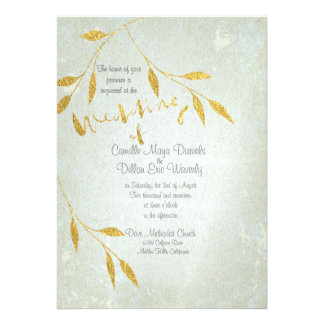 Lovely Gold Foil Gold-effect Wedding Invitation