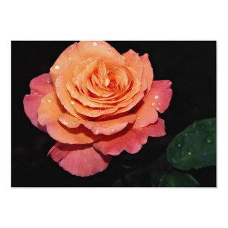 Lovely Grandiflora Rose 'Sundowner' 13 Cm X 18 Cm Invitation Card