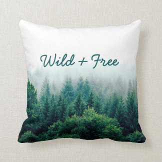 Lovely Green Forest Wild & Free Cushion