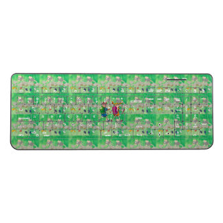 Lovely green going to school Keyboard
