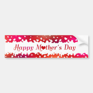 Lovely Happy Mother's Day Hearts - Bumper Sticker