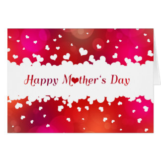 Lovely Happy Mother's Day Hearts - Greeting Card