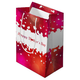 Lovely Happy Mother's Day Hearts - Medium Gift Bag