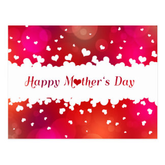 Lovely Happy Mother's Day Hearts - Postcard