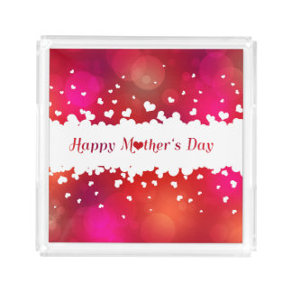 Lovely Happy Mother's Day Hearts - Square Tray