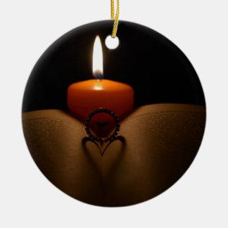 Lovely Heart Round Ceramic Decoration