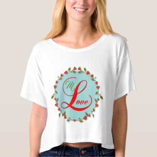 Lovely Heart Vine Wreath Custom T-Shirt