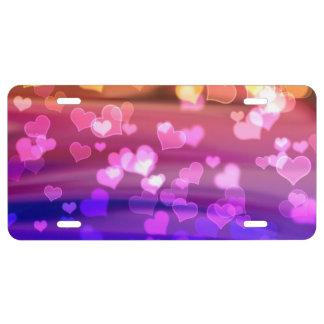 Lovely Hearts, Bokeh License Plate