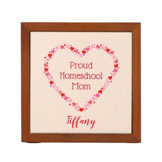 Lovely Hearts Proud Homeschool Mom Desk Organiser