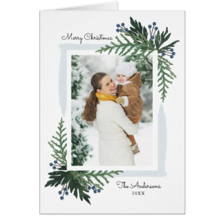 Lovely Holiday - Christmas Photo Greeting Card