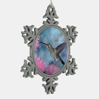 Lovely Humming Bird - Pewter Snowflake Ornament