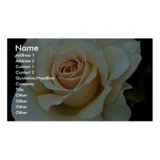 Lovely Hybrid Tea Rose Business Card Template