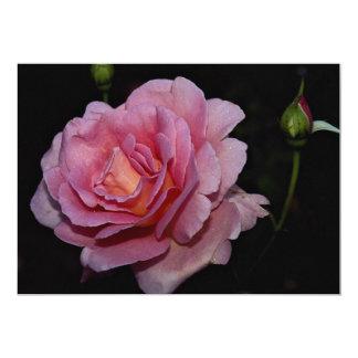Lovely Hybrid Tea Rose 'Tiffany' 13 Cm X 18 Cm Invitation Card