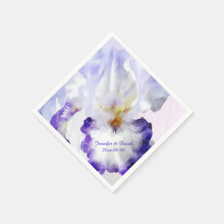 Lovely Iris Custom Paper Napkins