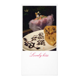 Lovely kiss photo card template