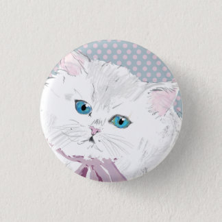 lovely kitty 3 cm round badge