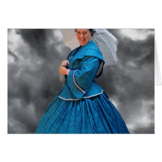 Lovely Lady in blue living in the 1860's Card