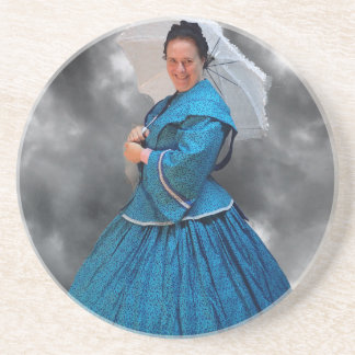 Lovely Lady in blue living in the 1860's Coaster