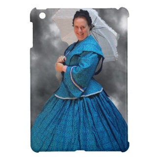 Lovely Lady in blue living in the 1860's Cover For The iPad Mini