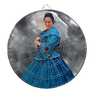 Lovely Lady in blue living in the 1860's Dartboard