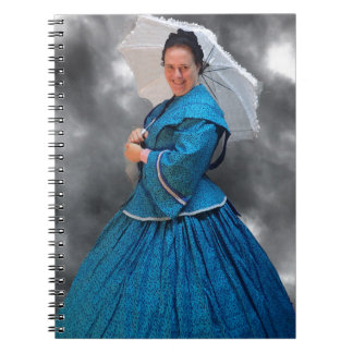 Lovely Lady in blue living in the 1860's Notebooks