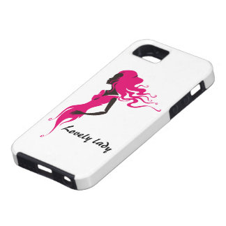 Lovely lady iPhone 5 cover