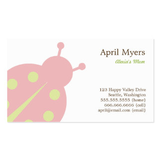 Lovely Ladybug Mommy Cards Business Card