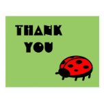 Lovely Ladybug Thank You Postcard
