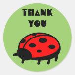 Lovely Ladybug Thank You Sticker
