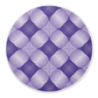 Lovely Lavender and Purple Lattice Digital Design Ceramic Knob